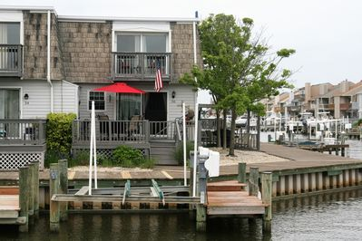back deck and upper master deck overlooking our dock