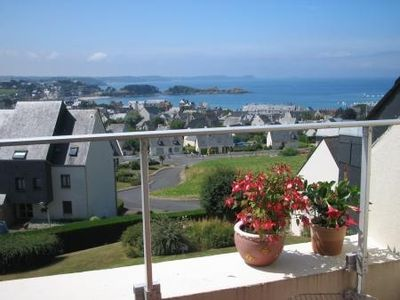 Photo for Brittany holiday apartment with panoramic seaview in Erquy