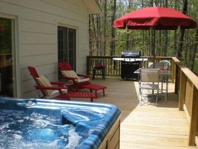 Photo for Charming country cottage with view - Hot Tub - 145 acres - Lots of extras.