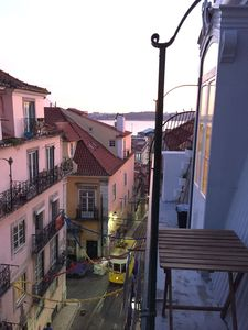 Photo for Balcony spinning view Tagus and colorful deco in the heart of the historic center.