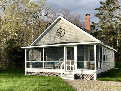 Photo for Rustic Chic Cottage in Ocean Point! Water Views, Fireplace and Great Linens