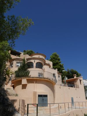Photo for Villa for 6 with panoramic sea pool in Moraira Spain