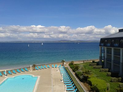 Photo for Le P'tit Martolod 3 *, with an exceptional sea view, direct access to the beach and swimming pool :)