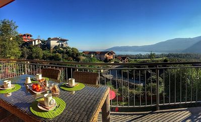 Photo for Carty on the hills over Verbania with lake view