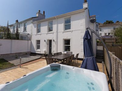 Photo for Stunning, pet & family friendly, St Ives cottage sleeping 8 - with hot tub, garden & parking