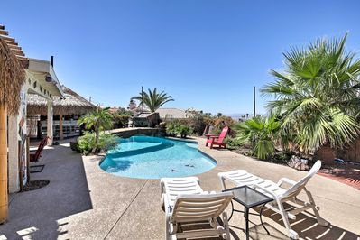 You'll be staying at your own little tropical paradise in Lake Havasu City!