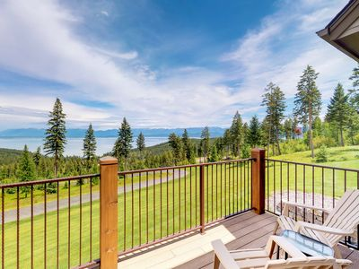Photo for NEW LISTING! Extravagant home w/ deck, lake views -fitness room & pool table