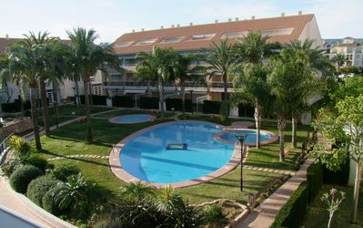 Golden Gardens Complex with beautiful lawned gardens, three pools and gymnasium