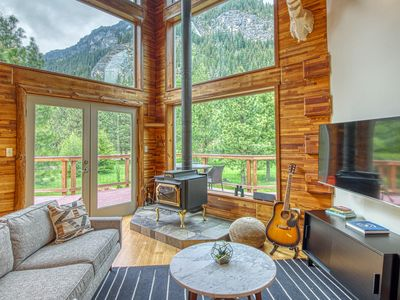 Photo for Mountain chalet w/ great deck & views of Nason Ridge - near skiing & Leavenworth