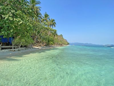 Photo for SOLE RESORT Private Island with 19 Beachfront Bungalows, WiFi, A / C Restaurant