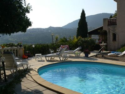 Photo for Provencal Villa on the French Riviera with a view of the St. Tropez bay