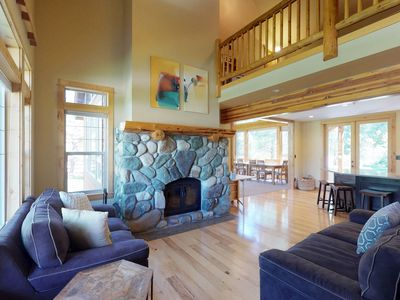 Photo for Stunning riverfront lodge with private hot tub surrounded by natural beauty!
