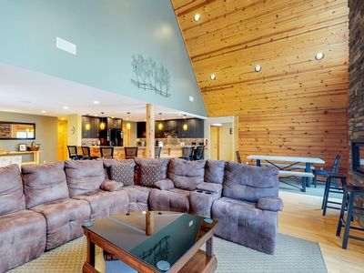 Photo for Log home w/ private hot tub, firepit, air hockey/pool tables & media room!