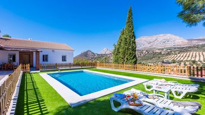 Photo for Huge holiday villa for families, with fabulous garden and views