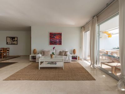 Photo for Very spacious and bright. Golf, relax, sea and beach. Ideal for families.
