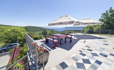 Photo for Two bedroom apartment with terrace and sea view Brseč (Opatija)
