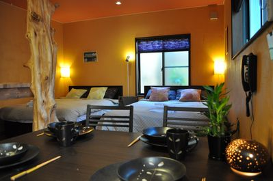 Bamboo floors, highest quality bedding, and stylish furnishings (Bamboo Suite).
