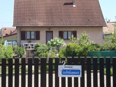 Photo for EGUISHEIM near Colmar Indiv. Log. WC. 2-8 pers-Courtyard and Garden-Quiet