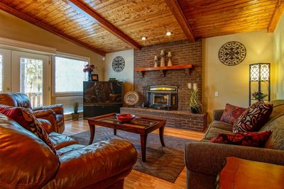 Gorgeous Great Room with Wood-Burning Fireplace