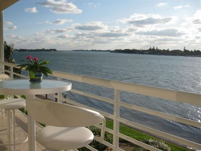 Photo for CLUB BAHIA LUXURY WATERFRONT Condo View Sunsets, Dolphins, Manatee from balcony!