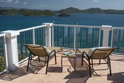 Relax on the deck and enjoy sunrises, moonrises, + all the beautiful sailboats