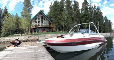 Photo for Luxury On The Lake, Water Front Cabin At Bill's Island Near Yellowstone Park