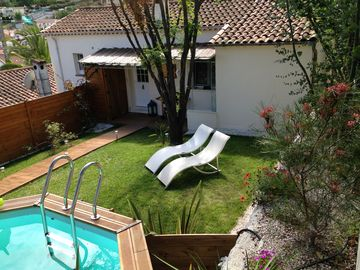 The house of Pégomas, house, garden and swimming pool on the Cote d'Azur