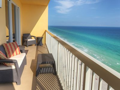Photo for Calypso Resort #1- 2005 East, 1BR,  20th Floor, Beach Chairs, WIFI, Beach Front