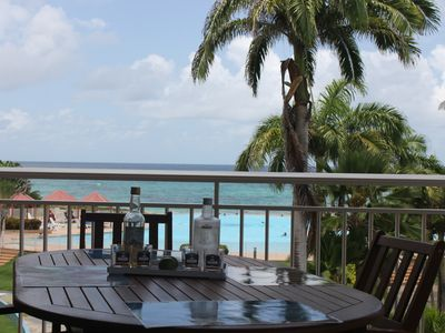 Photo for SEA VIEW 65m2 air-conditioned apartment + terrace 30m- sea view and pool