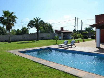 Photo for Villa for 12 people in Inca with private pool and BBQ. 2 kitchens. Private garden. 4 bedrooms -00039- - Free Wifi