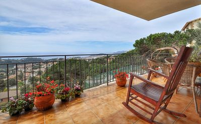Photo for Villa Turó de Lloret, overlooking the sea, 4 bedrooms,  private pool