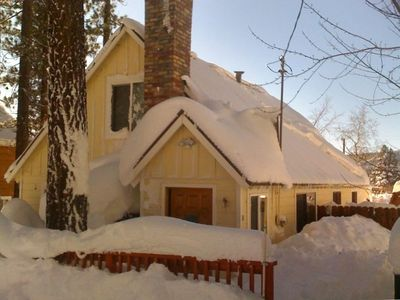 Photo for Charming Tahoe City Cabin with Hot Tub in Town!