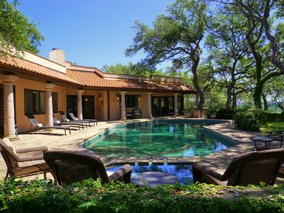 Photo for Hill Country Glamour! 5 Bedroom, 5 Bathroom Luxury Estate In Wimberley.