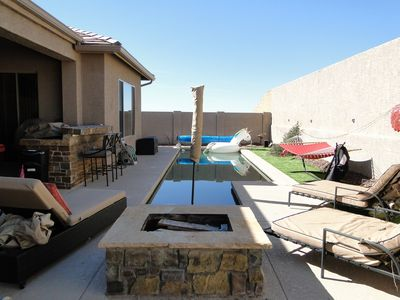 Photo for 4+ bedroom & private pool backyard retreat. optional casita