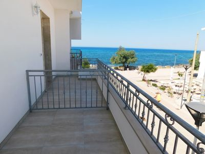 Photo for Central Two-room Apartment by the Seaside with Balcony, Sea View & Air Conditioning
