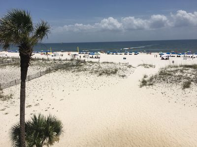 Photo for Southern Sands 206/Beach Front/Dolphin watching from the balcony!