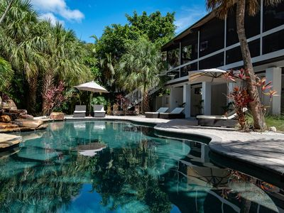 Photo for Incredible, dog-friendly house with private heated pool, close to the beach!