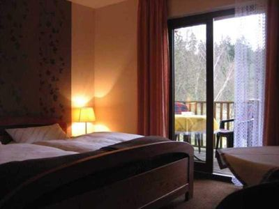 Photo for Double room with balcony - Haus am Wald