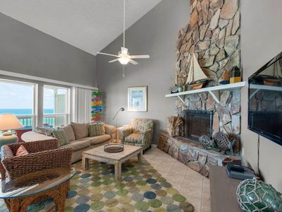 Photo for Gorgeous Condo, Wood fireplace, Amazing view, On the beach
