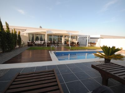 Photo for Designer Villa 100m to Sea/Beach Private Pool+Garden Great location WIFI UK TV