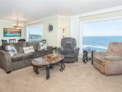 Photo for Whales and Outstanding Rocky Surf Views from this Depoe Bay Oceanfront Perch!