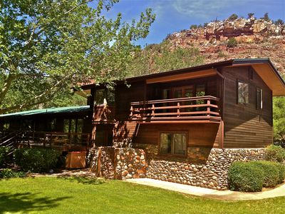Private OAK CREEK Oasis In West Sedona On 2 Acres! 3000 sf house with creek!!