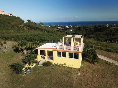 Photo for Beautiful cottage for 2 w/ ocean views, rooftop terrace, wi-fi, and AC