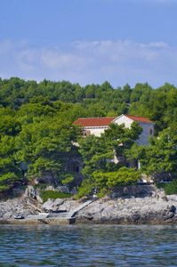 View of Villa Rosemarine from the Adriatic