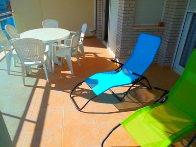 Photo for Apartment in private luxury residence, sea view, TNT (French TV)