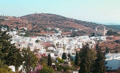 View of Lefkes Village from the House