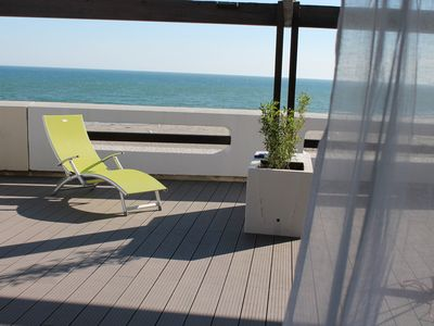 Photo for Apart. Front de Mer. 100m2 terrace. Panoramic view