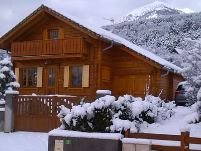 Photo for Beautiful quiet all wood chalet located in EMBRUN