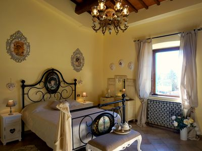 "Photo for ""Casa Bella Vista"" Medieval tuscan apartment -family/group friendly near Pisa"