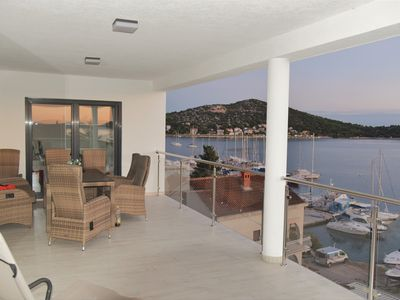 Photo for Luxury penthouse **** with fantastic sea view 160 sqm in Tisno-Dalmatia
